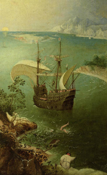 Wall Art - Painting - Landscape With The Fall Of Icarus, 1560s by Pieter Bruegel the Elder