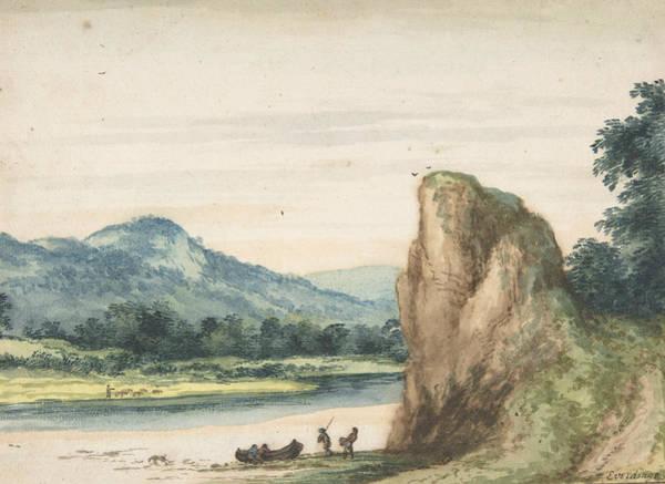 Drawing - Landscape,mid-17th Century  by Allaert van Everdingen