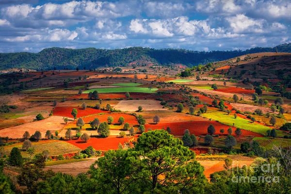 Myanmar Wall Art - Photograph - Landscapes Of Shan State, Myanmar by Yury Birukov