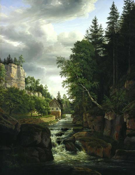 Wall Art - Painting - Landschaft by Carl Christian Sparmann