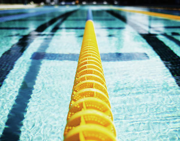 Santa Rosa Photograph - Lane Divider In Olympic Size Swimming by Miguel Salmeron