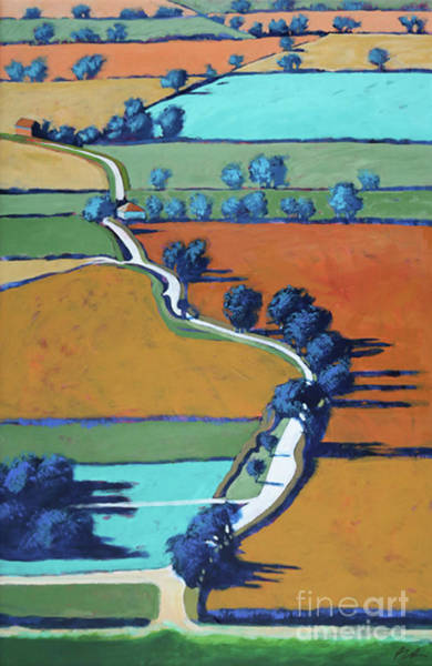 Wall Art - Painting - Lane Towards Ledbury  by Paul Powis