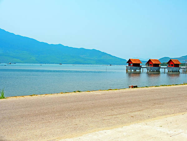 Wall Art - Photograph - Lang Co Houses On The Water - Hue, Vietnam by Madeline Ellis