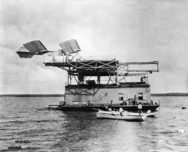 Rowboat Photograph - Langleys Aerodrome by Hulton Archive