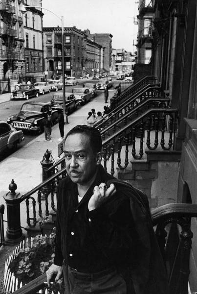 Wall Art - Photograph - Langston Hughes On The Stoop by Robert W. Kelley
