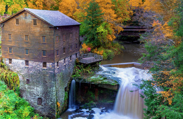 Shrooms Photograph - Lanterman's Mill In Fall by RJ Stein Photography