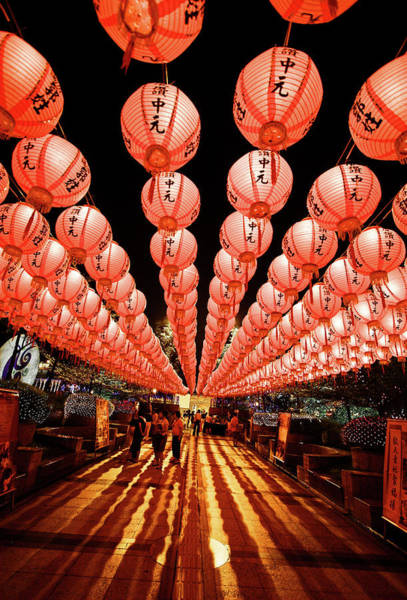Chinese New Year Photograph - Lantern Alley by Tc Lin