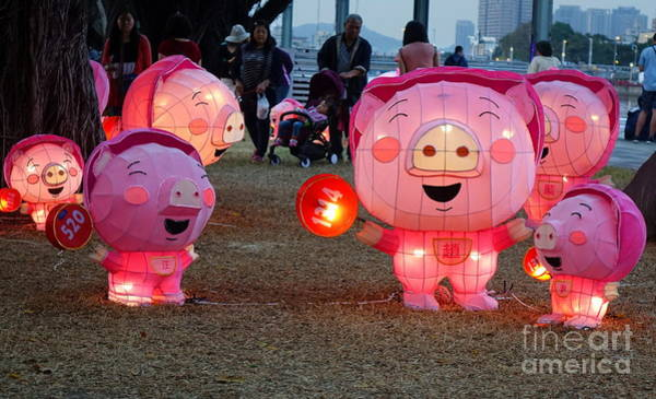 Wall Art - Photograph - Lantern Festival For The Chinese Year Of The Pig by Yali Shi