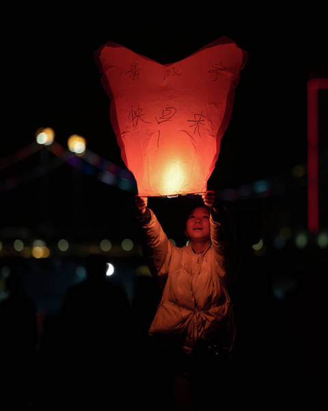 Photograph - Lantern Launch by William Dickman