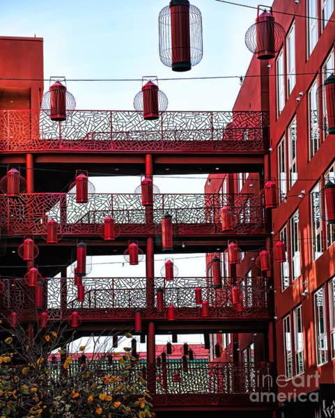 Wall Art - Photograph - Lanterns China Culture Apartments Chinatown California  by Chuck Kuhn