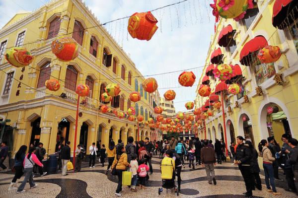 Chinese New Year Photograph - Lanterns Hanging In Senate Square Largo by Wibowo Rusli