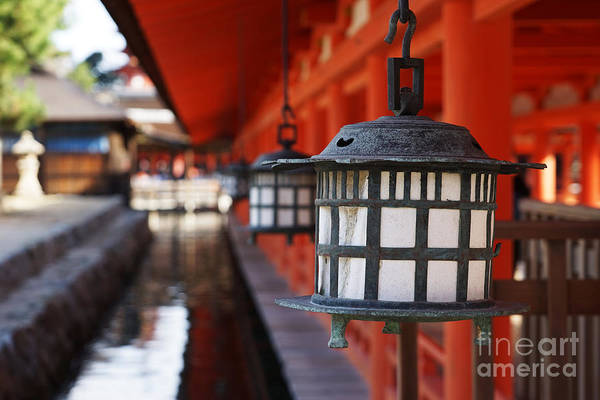 Floating Wall Art - Photograph - Lanterns In Itsukushima Shrine by Iwashi Spirit