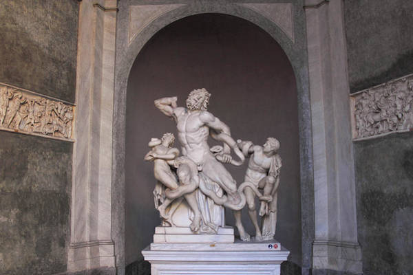 Photograph - Laocoon Group At The Vatican Museum In Rome by Angela Rath
