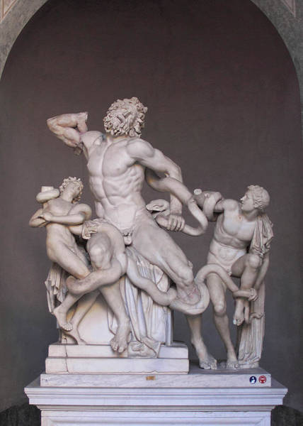 Photograph - Laocoon Group At The Vatican Museum In Rome Vertical Crop by Angela Rath