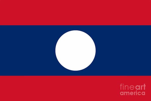 Wall Art - Digital Art - Laos National Flag by Bigalbaloo Stock