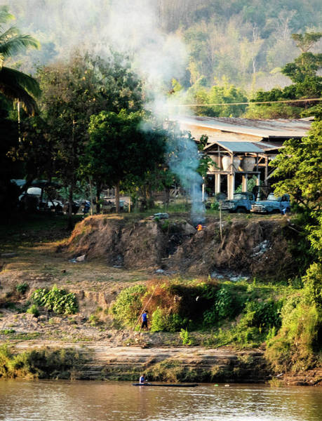 Photograph - Laos Riverside Scene  by Jeremy Holton