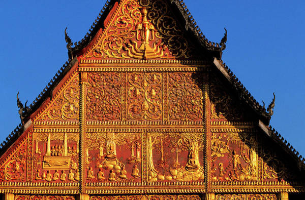 Wall Art - Photograph - Laos, Vientiane, Detail Of The Roof Of by Guiziou Franck / Hemis.fr