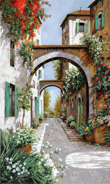 Michelangelo Wall Art - Painting - L'arco Dell'angelo by Guido Borelli