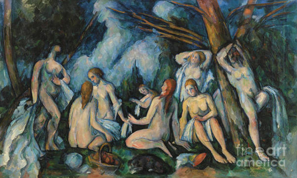 Wall Art - Painting - Large Bathers by Paul Cezanne