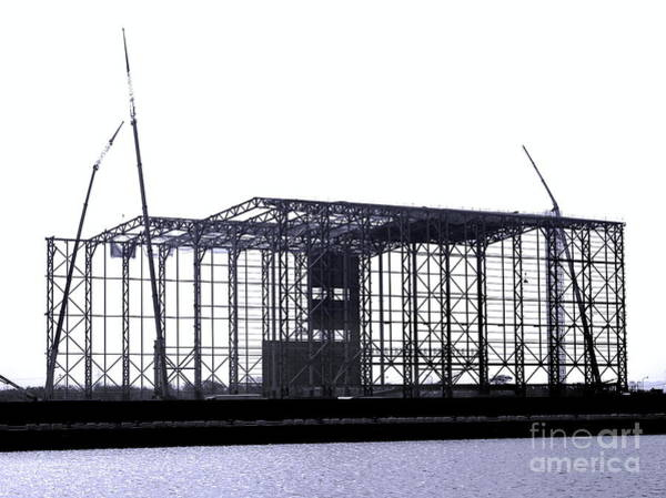 Wall Art - Photograph - Large Steel Structure Construction by Yali Shi