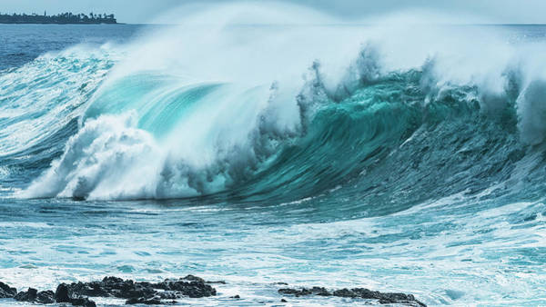Wall Art - Photograph - Large Wave On The Ocean Off The West by Robert Postma
