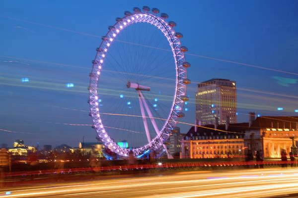 Millennium Park Photograph - Large Wheel For Tourist by Grant Faint