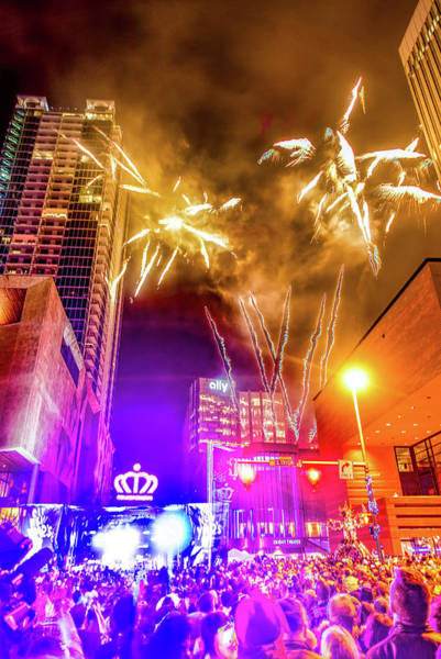 Photograph - Larged Crowds Gathered To Celebrate First Night Of New Year In C by Alex Grichenko