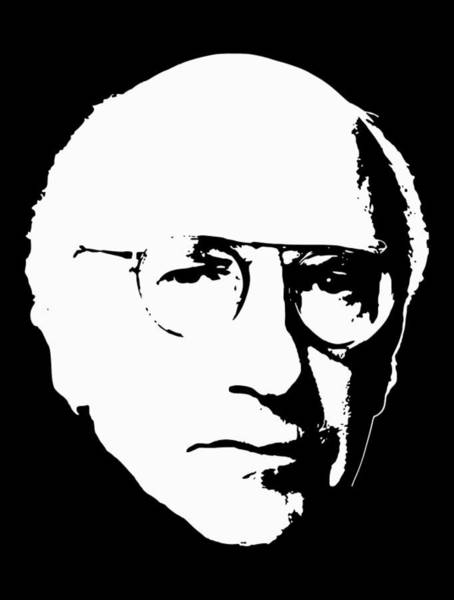 Wall Art - Digital Art - Larry David Minimalistic Pop Art by Filip Hellman