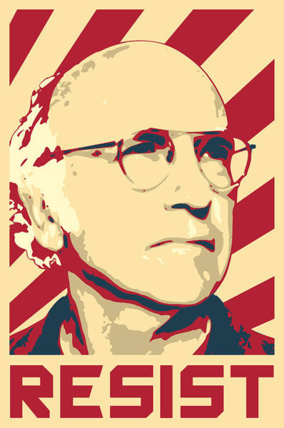 Wall Art - Digital Art - Larry David Resist by Filip Hellman