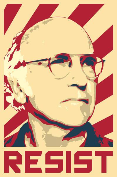 Propaganda Digital Art - Larry David Resist by Filip Hellman