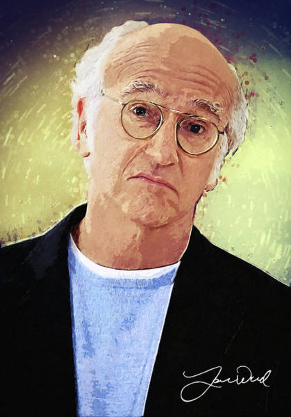 Wall Art - Digital Art - Larry David by Zapista Zapista