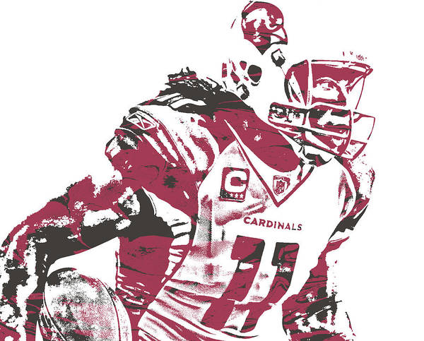 Cardinal Mixed Media - Larry Fitzgerald Arizona Cardinals Pixel Art 26 by Joe Hamilton