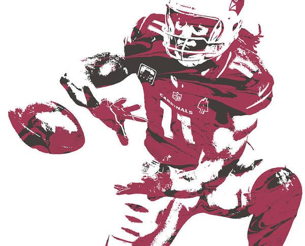 Cardinal Mixed Media - Larry Fitzgerald Arizona Cardinals Pixel Art 28 by Joe Hamilton
