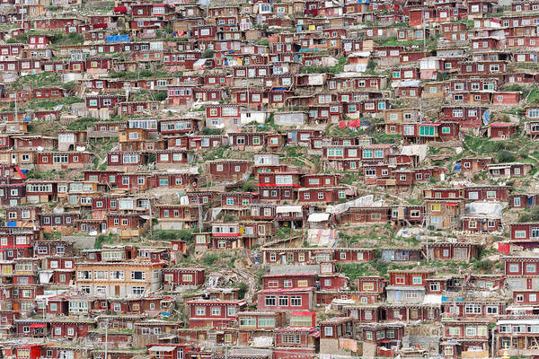 Landmark Wall Art - Photograph - Larung Gar Five Sciences Buddhist by Kit chow