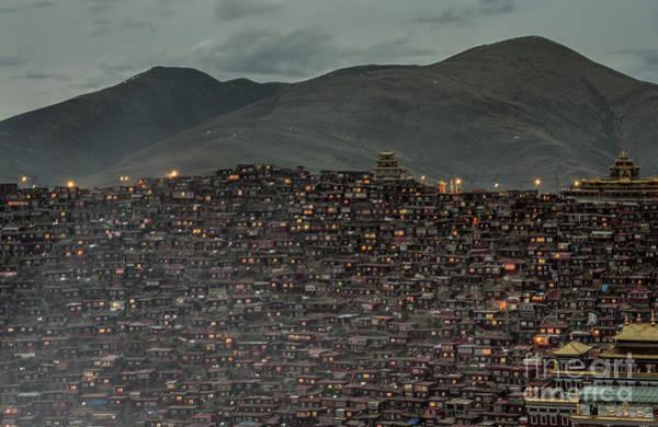 Wall Art - Photograph - Larung Gar by Sarawut Intarob