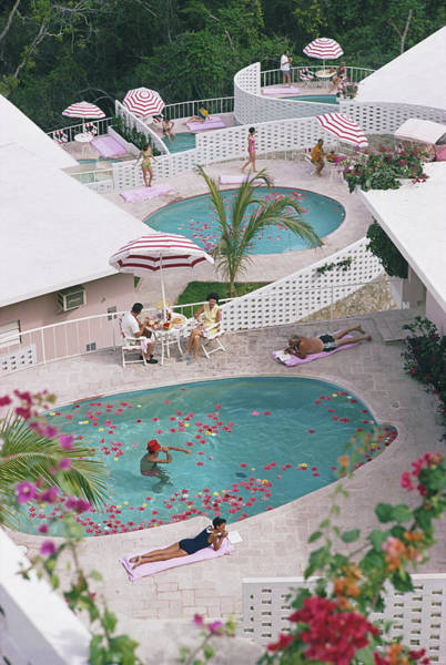 Group Of People Photograph - Las Brisas Hotel by Slim Aarons