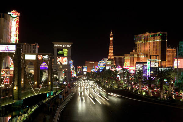 Las Vegas Photograph - Las Vegas At Night by Thinkstock Images