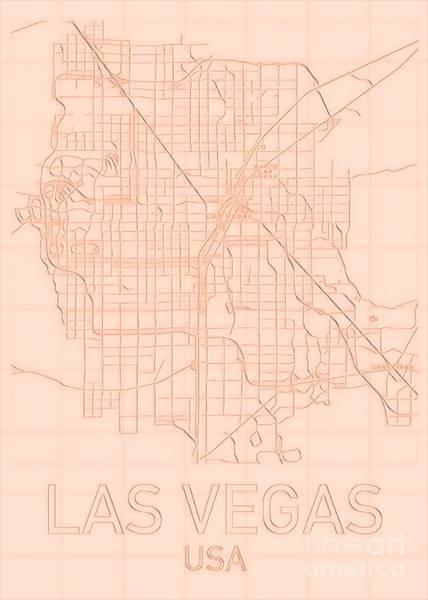 Painting - Las Vegas Blueprint City Map Alt by Helge
