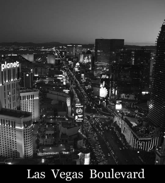 Wall Art - Photograph - Las Vegas Boulevard Poster Work A by David Lee Thompson
