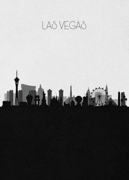 Wall Art - Digital Art - Las Vegas Cityscape Art V2 by Inspirowl Design