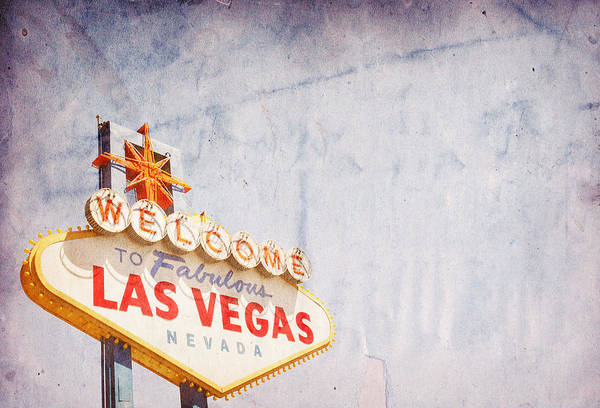 Kitsch Photograph - Las Vegas Sign by Nic Taylor