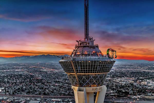 Photograph - Las Vegas Stratosphere Aerial  by Susan Candelario