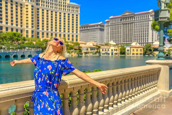 Photograph - Las Vegas Strip Woman by Benny Marty