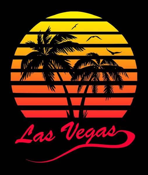 Wall Art - Digital Art - Las Vegas Sunset by Filip Hellman