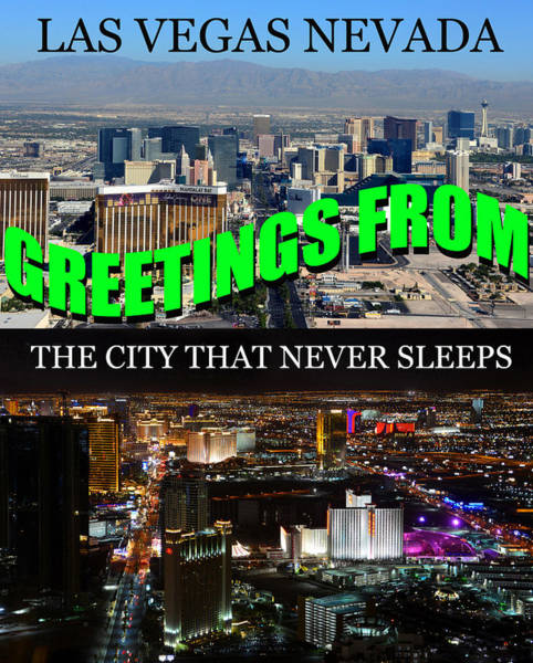 Wall Art - Photograph - Las Vegas The City That Never Sleeps Custom Pc by David Lee Thompson