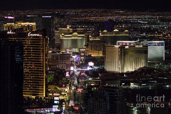 Photograph - Las Vegas View From Stratosphere 1 by Sanjeev Singhal
