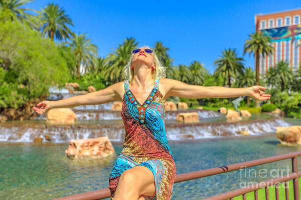 Photograph - Las Vegas Woman Carefree by Benny Marty