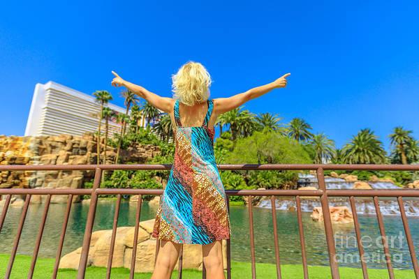 Photograph - Las Vegas Woman Enjoying by Benny Marty