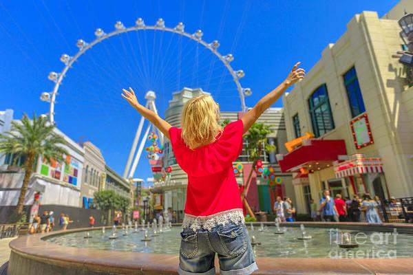 Photograph - Las Vegas Woman Ferris Wheel by Benny Marty