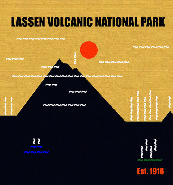 Wall Art - Mixed Media - Lassen Volcanic N. P. M Series by David Lee Thompson